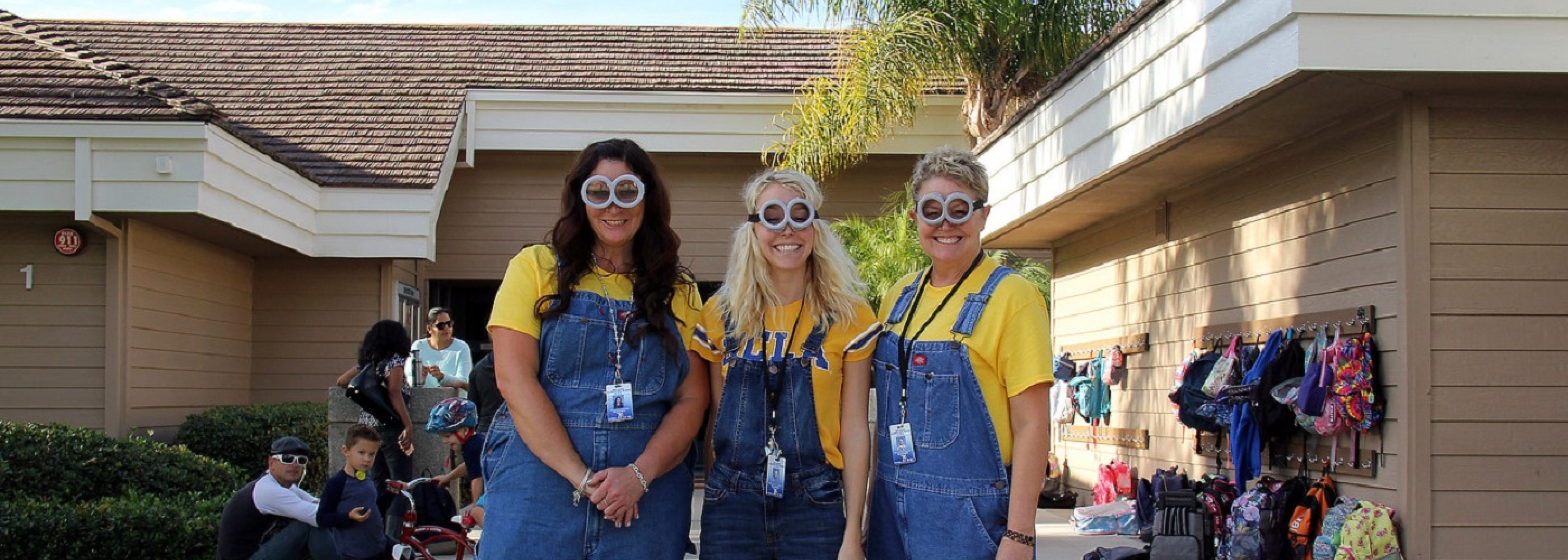 Teachers Dressed as Minions